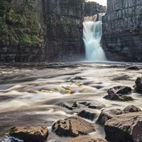 Long exposure image of High Force Waterfall