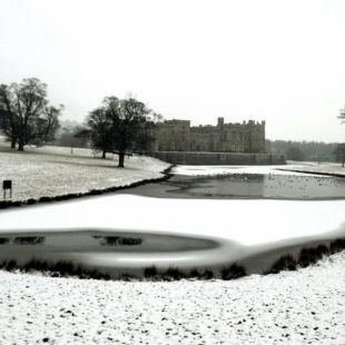 Raby Castle in Winter