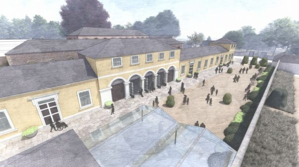 CGI of the Coach House within The Rising development