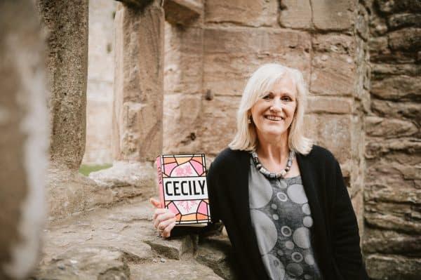 Annie Garthwaite with her debut novel, Cecily.